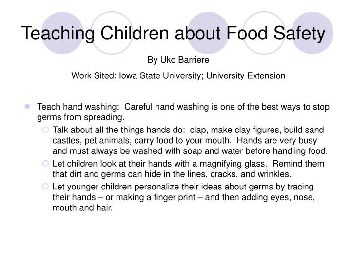 Teaching Children about Food Safety