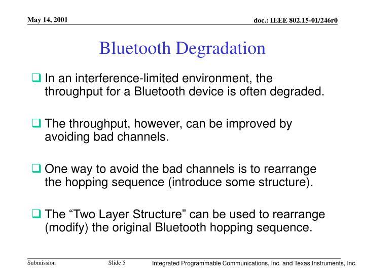 Bluetooth Degradation