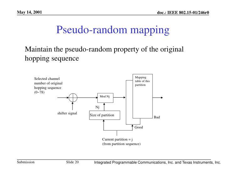 Pseudo-random mapping