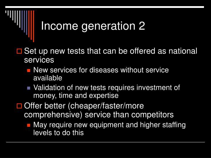 Income generation 2