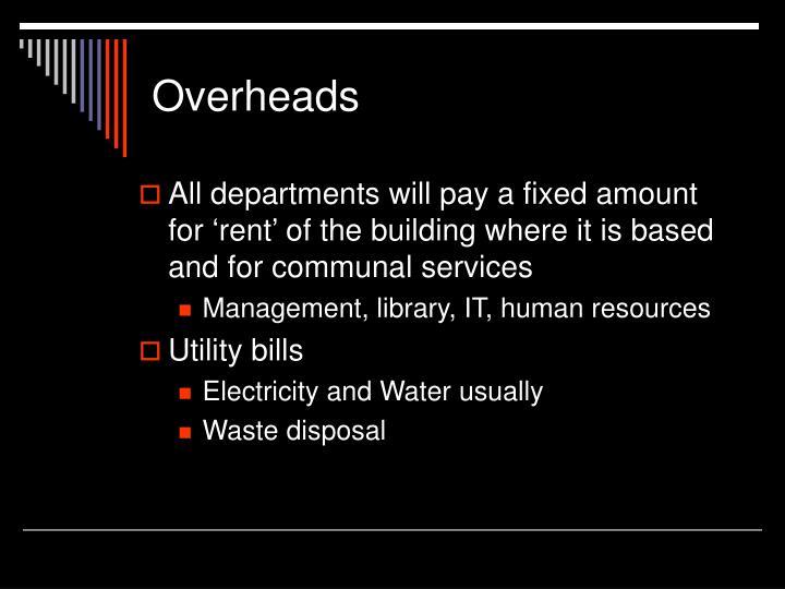 Overheads