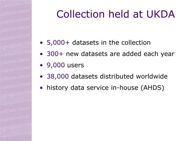 Collection held at UKDA