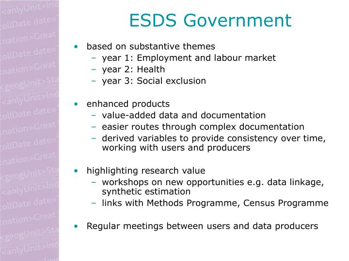 ESDS Government