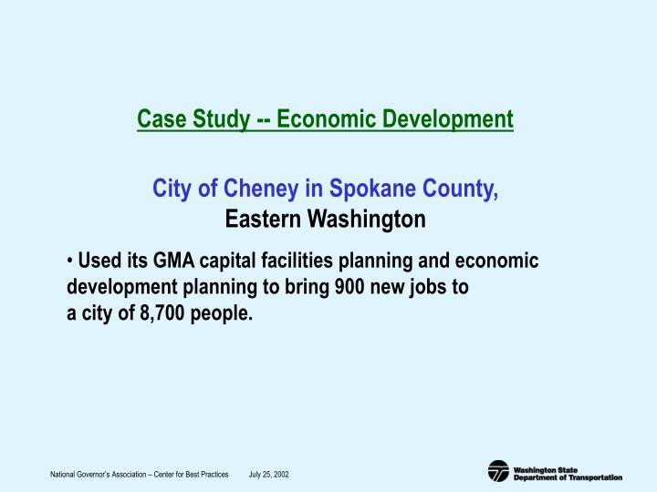 Case Study -- Economic Development