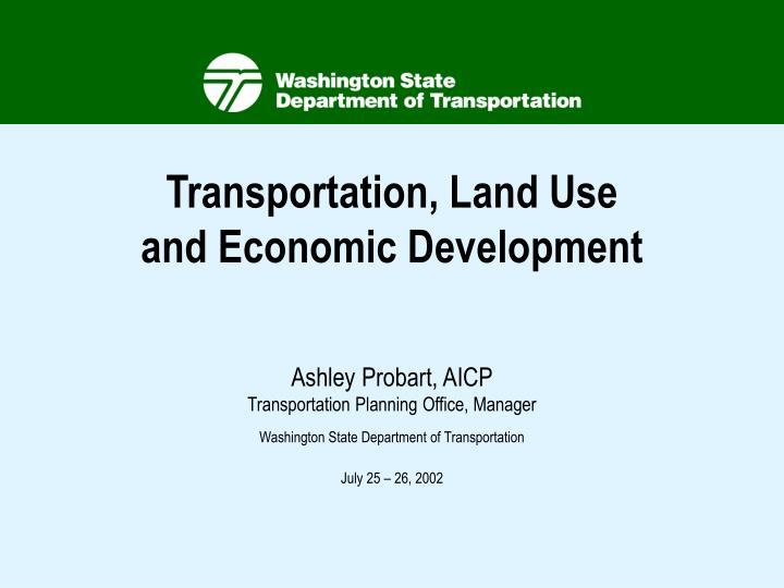 Transportation, Land Use