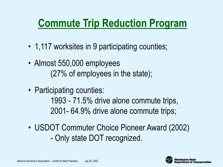 Commute Trip Reduction Program