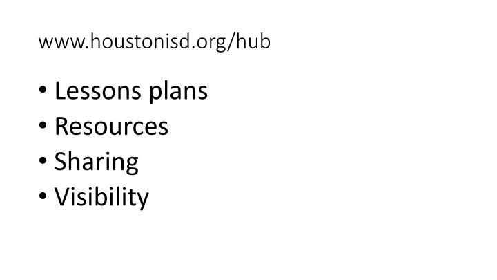 www.houstonisd.org/hub