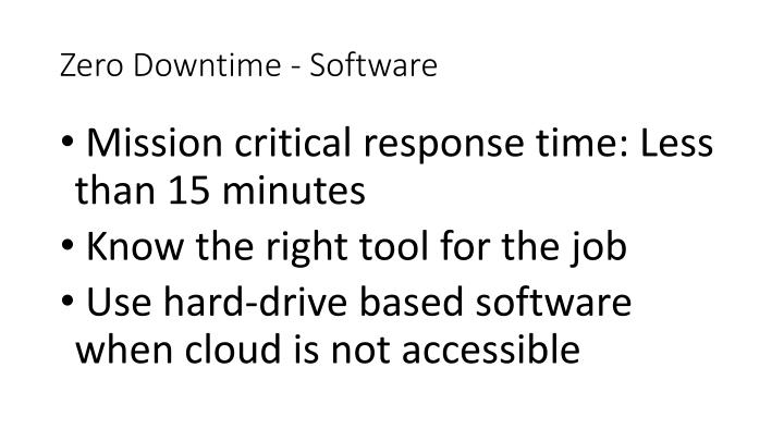 Zero Downtime - Software