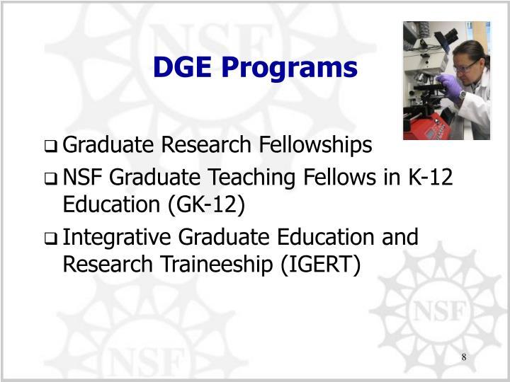 DGE Programs