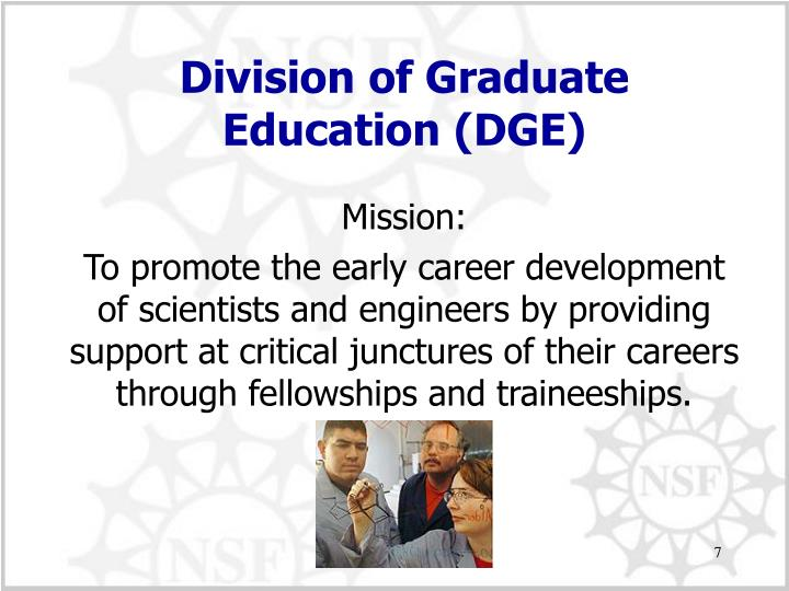 Division of Graduate Education (DGE)