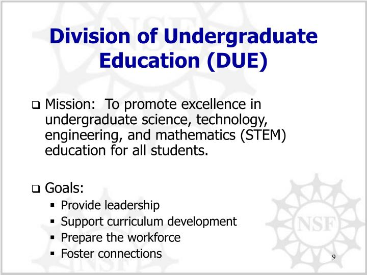 Division of Undergraduate Education (DUE)