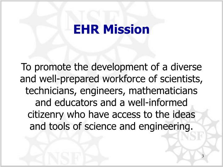 EHR Mission