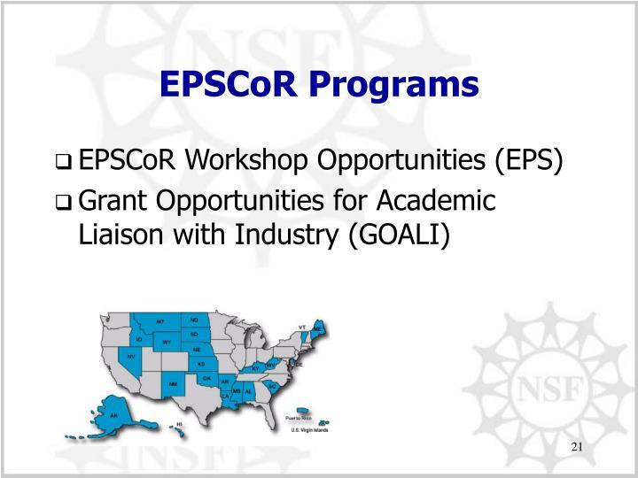 EPSCoR Programs