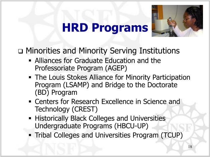 HRD Programs