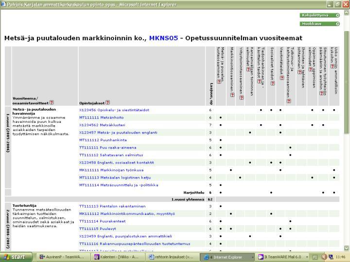 Metsä- ja puutalouden markkinoinnin koulutusohjelman osaamisjuonteet