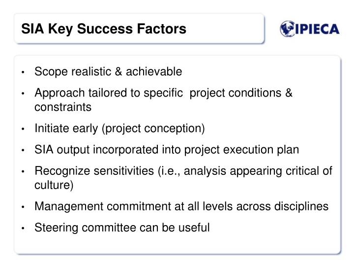 Scope realistic & achievable