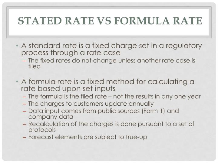 Stated Rate