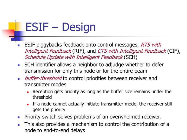 ESIF – Design