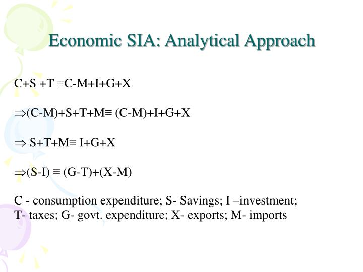 Economic SIA: Analytical Approach