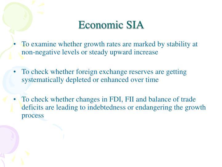 Economic SIA