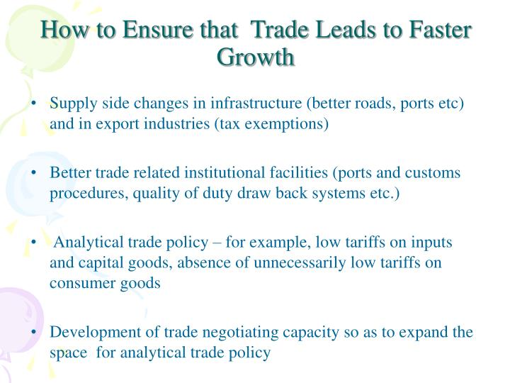How to Ensure that  Trade Leads to Faster Growth
