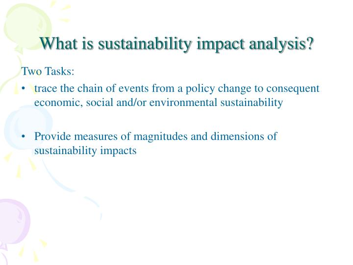 What is sustainability impact analysis?
