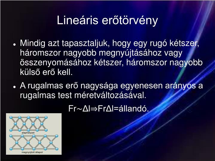 Lineáris erőtörvény