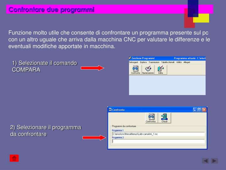 Confrontare due programmi
