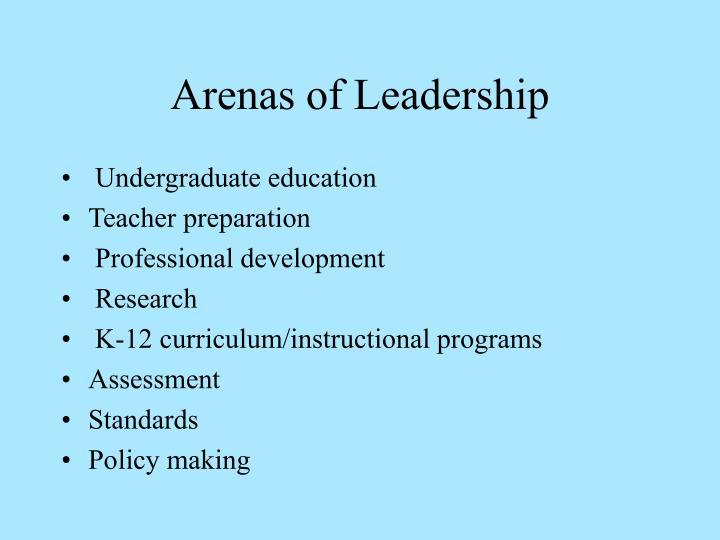 Arenas of Leadership