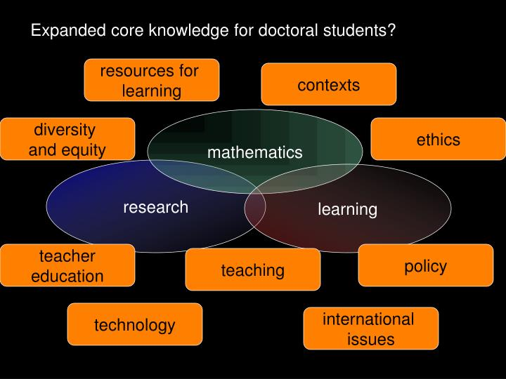 Expanded core knowledge for doctoral students?