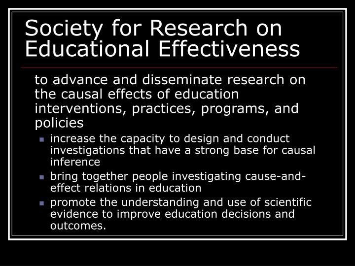Society for Research on Educational Effectiveness