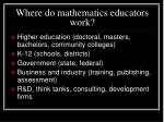 where do mathematics educators work