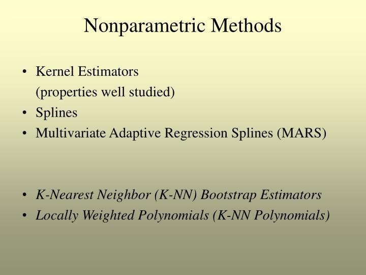 Nonparametric Methods