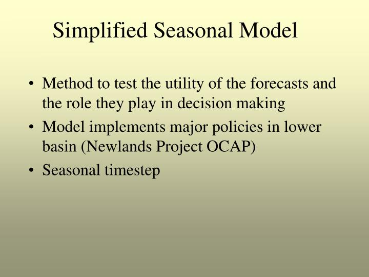 Method to test the utility of the forecasts and the role they play in decision making