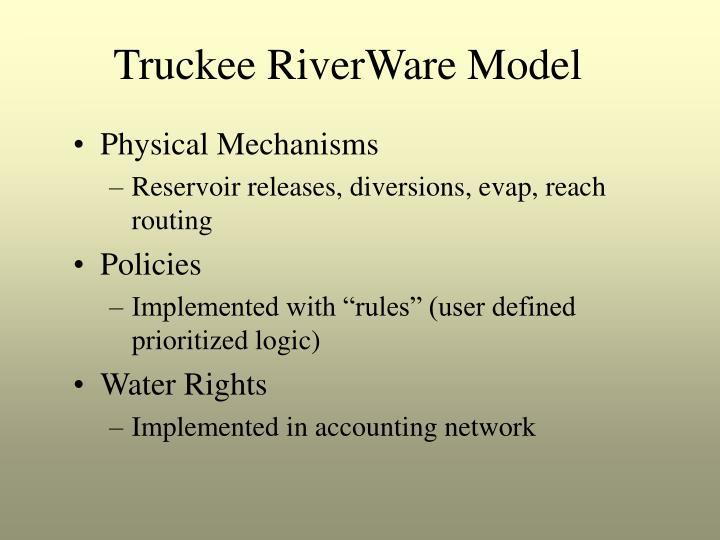 Truckee RiverWare Model