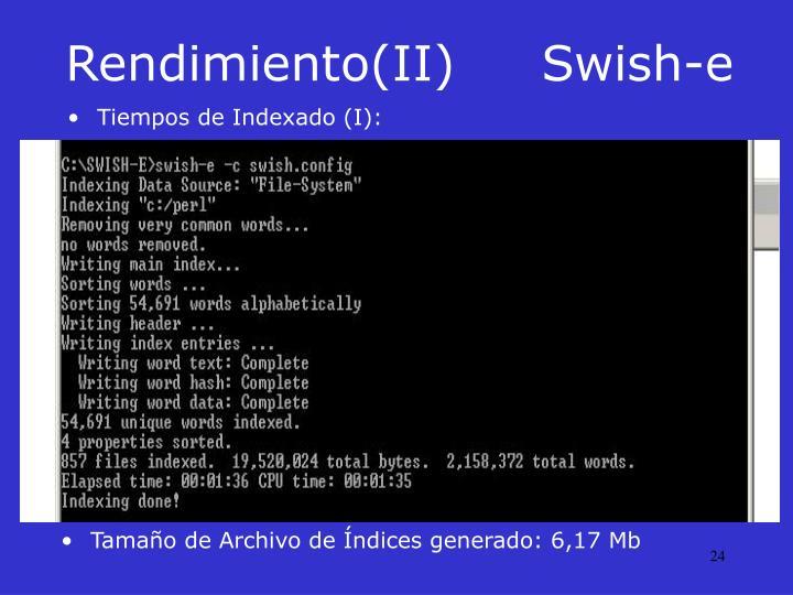 Rendimiento(II)Swish-e