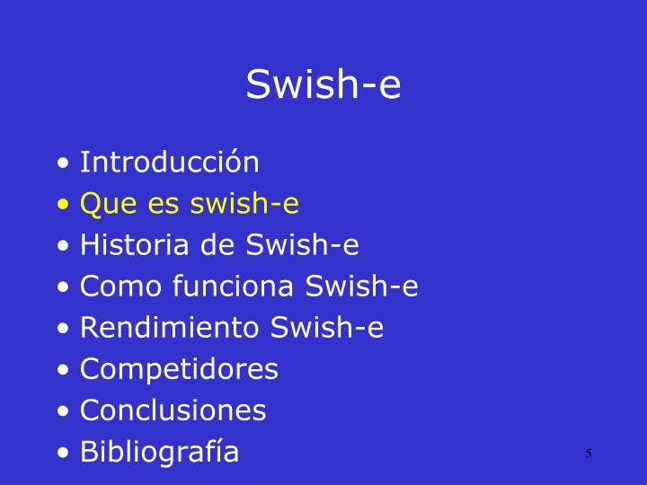 Swish-e