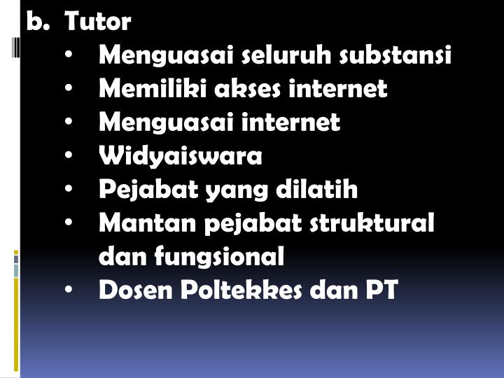 b.  Tutor