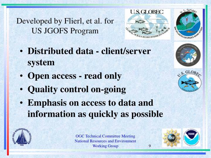Developed by Flierl, et al. for US JGOFS Program