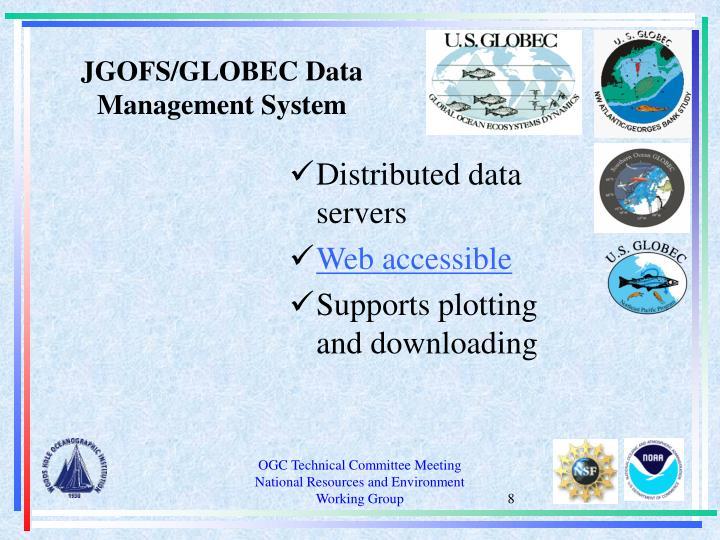 JGOFS/GLOBEC Data Management System