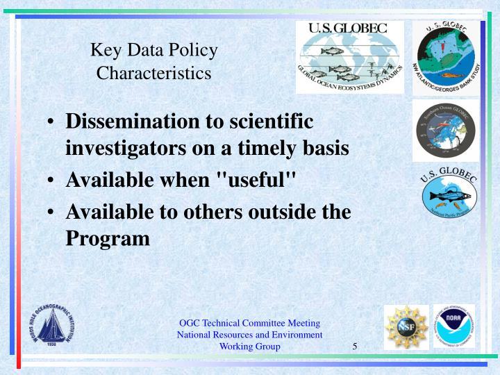 Key Data Policy Characteristics