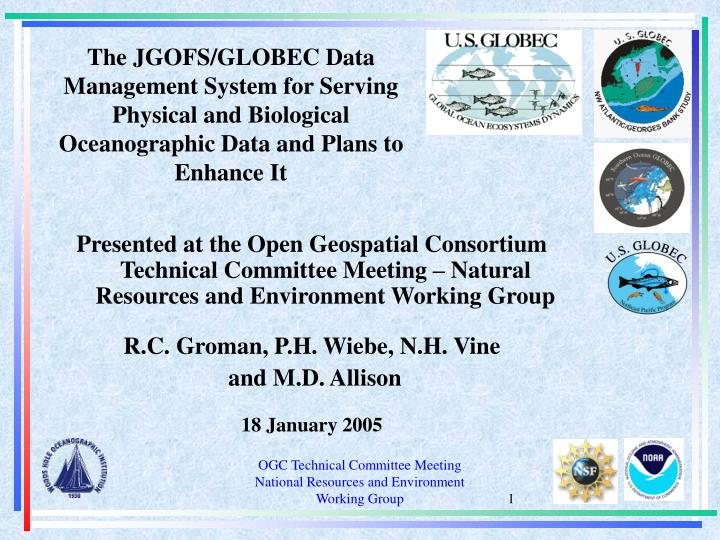 The JGOFS/GLOBEC Data Management System for Serving Physical and Biological Oceanographic Data and P...