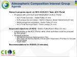 atmospheric composition interest group agenda