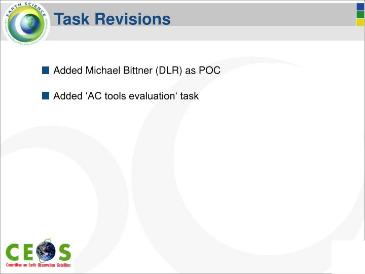 Task Revisions