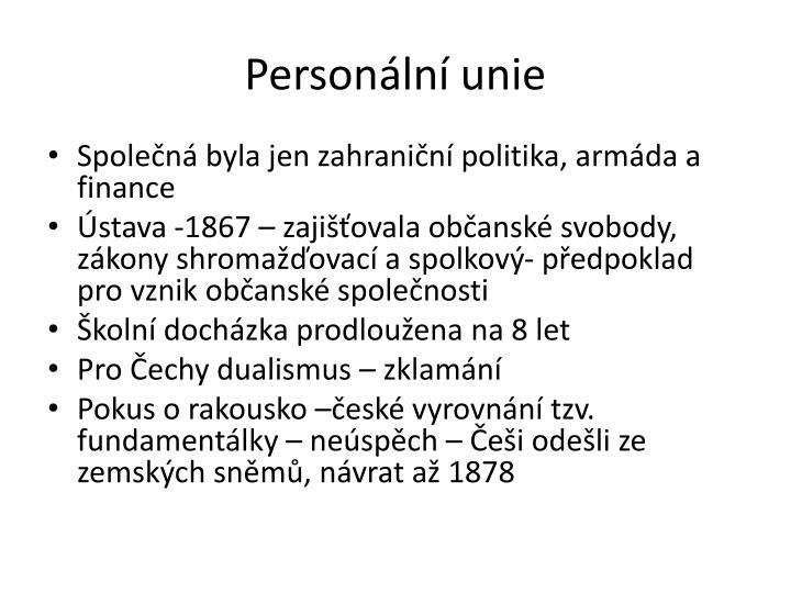Personální unie