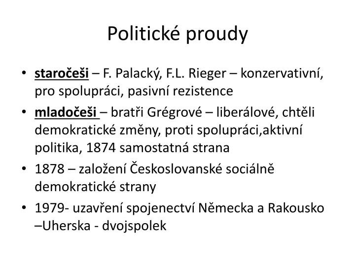 Politické proudy