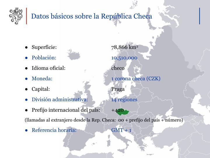 Datos básicos sobre la República Checa