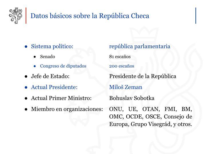 Sistema político: república parlamentaria