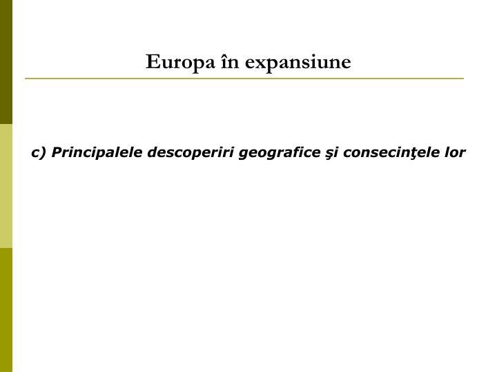 Europa în expansiune