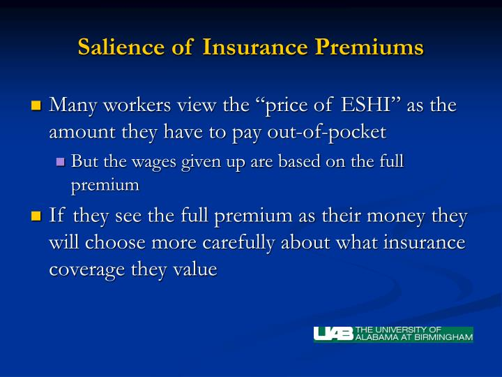 Salience of Insurance Premiums